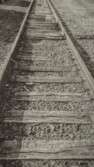 Railroad Track Beauty In Ordinary Things Choochoo Right Side Of The Tracks Wrong Side Of The Tracks Chugachugg Rails Black And White All Abord Travel Photography Where Does It Lead? Its My Own Unendingbeauty Beauty In All Things Ordinary To Extraordinary