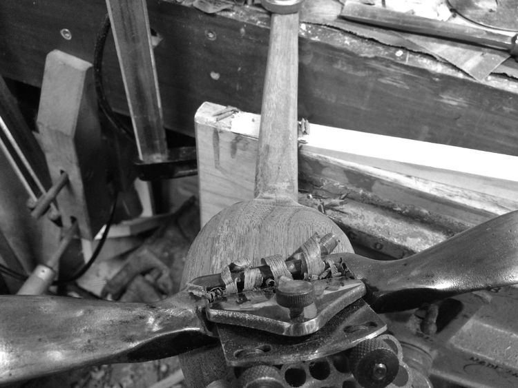 Using a spokeshave to smooth a hand carved walnut spoon. Wooden Spoon Woodworking JGLowe No People Indoors  Work Tool Day