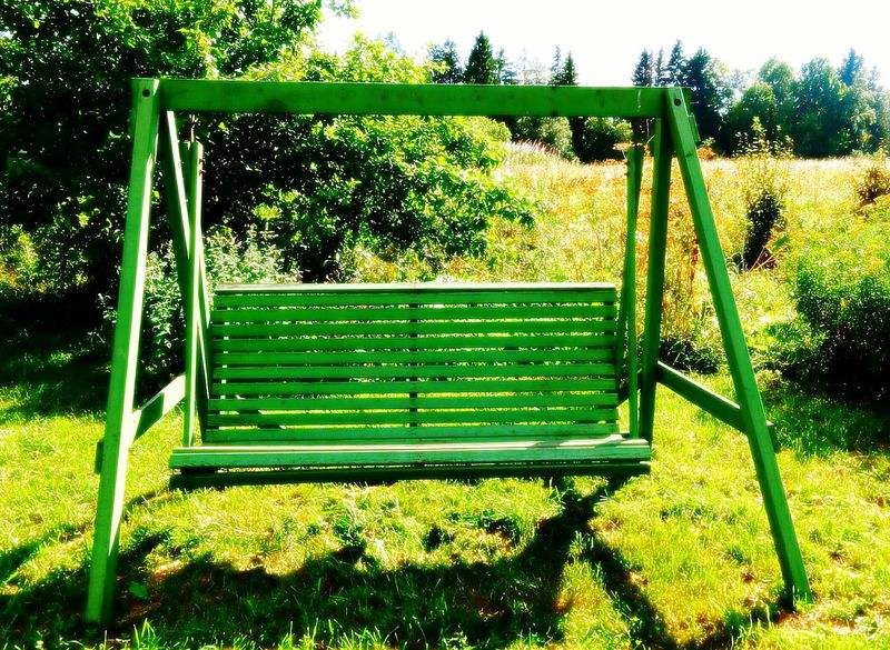 Swing Summer Views Summertime Beautiful Nature Countryside Country Life Wooden Swing Swings