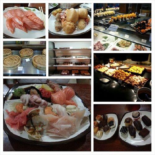Mummy' birthday treat with Family at Sakura ! Doesnot taste so good though. Buffet Dinner YumYum