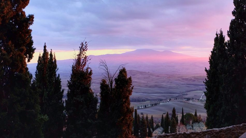The City Light Pienza Toscana Italy Colors Mountain Cloud - Sky Sky Beauty In Nature Sunset Landscape