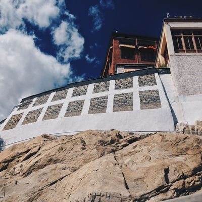 Thiksey Monastery Ladakh Jammu And Kashmir India IPhone IPhoneography Travel Photography Travel Gompa Clouds And Sky