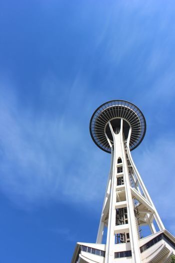 Low Angle View Of Space Needle Against Sky
