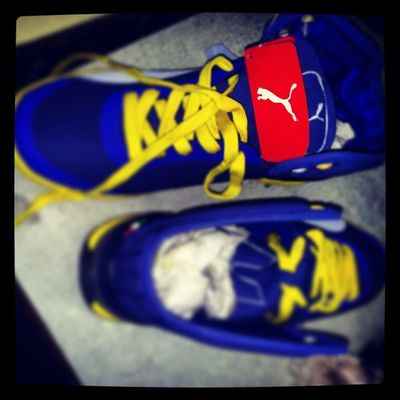 My Shoes My father buy him to me Puma Blue yellow Happy cool wather instanice instashare Instalocation Instalike instacool Instaforward ...
