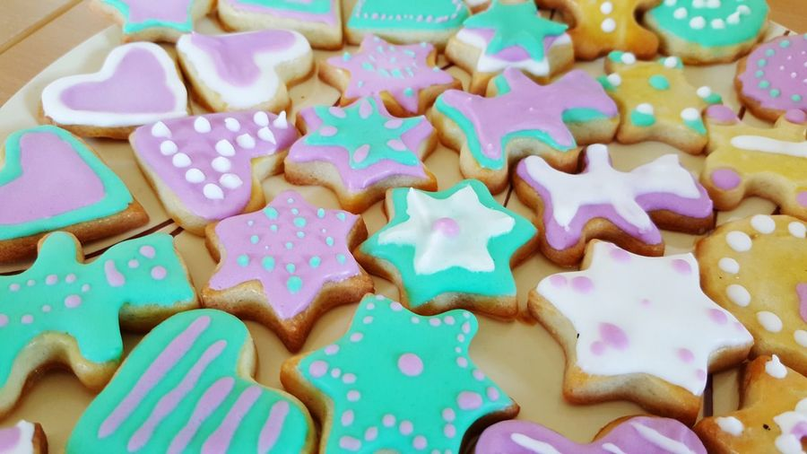 Delicious Sweet Food Food Food And Drink Temptation High Angle View No People Full Frame Dessert Close-up Multi Colored Christmas Ready-to-eat Indoors  Homemade Cookies Sugar Wintertime Biscuit Freshness Pastry Scrapcooking Colorful Cooking Life Pastel Colours Eating