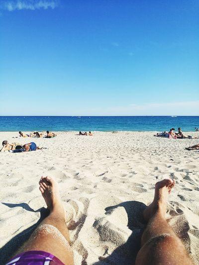 Plage France 🇫🇷 Sud-ouest Été Vacances Sud Détente Low Section Water Sand Shadow Human Leg Beach Holiday