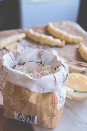 Close-up Croissant Egg Flour Food No People Pastry Preparation  Still Life