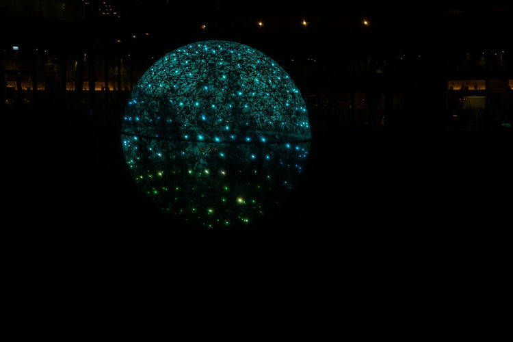 Let*s get illuminated Night Illuminated Copy Space No People Dark Circle Light - Natural Phenomenon Geometric Shape Glowing Lighting Equipment Sphere City Shape Close-up Outdoors Architecture Nature Building Exterior Nightlife Reflection Light Decoration Christmanstime Disco Lights