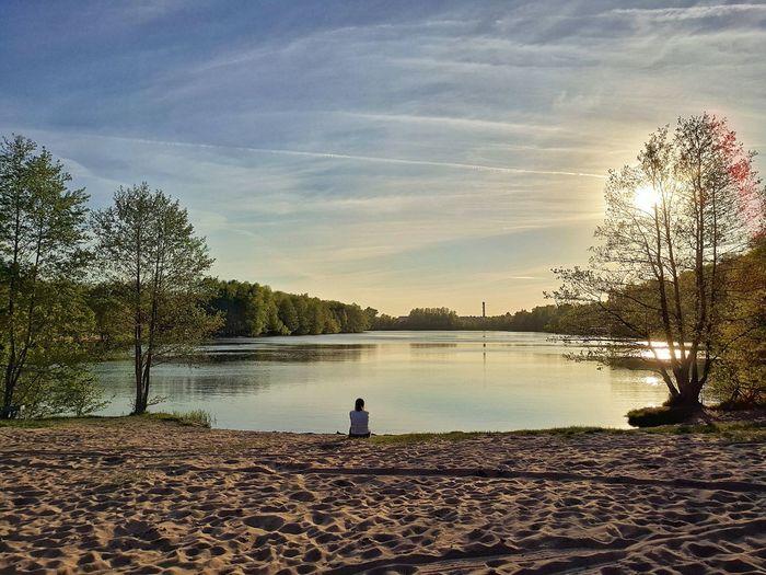Water Tree Full Length Beach Childhood Standing Sky