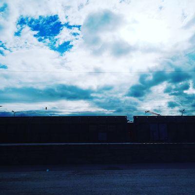 Wagon  Train No People Blue Sky Cloud - Sky