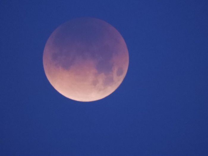 Super blue blood moon today First blue blood moon visible in US since 1866. Eclipse 2018 Super Moon Moon Full Moon Astronomy Moon Surface Beauty In Nature Planetary Moon Circle Clear Sky Nature Night Scenics Low Angle View Blue Outdoors Idyllic No People