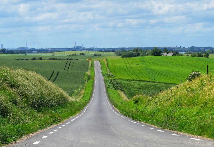 Road Sky Landscape Transportation Land Cloud - Sky Environment Scenics - Nature Agriculture Field Green Color
