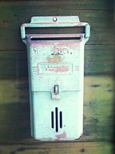 Postal Postal Service Mail Man Ghost Town Vintage Mailbox Mailbox Patina Close-up Turquoise No People