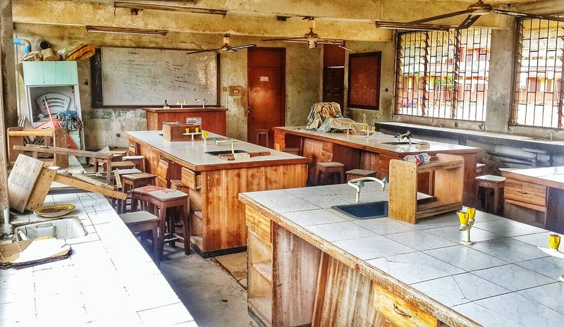 Biology lab in one of the government secondary schools . I wonder what the students will learn here. The Human Condition Government Property Private Are Way Better EyeEm Africa