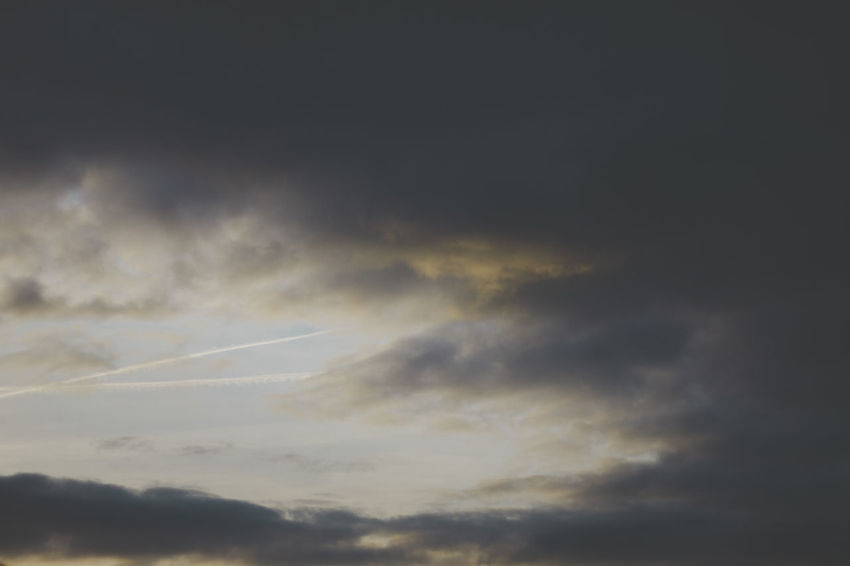 Beauty In Nature Cloud - Sky Contrail Day Low Angle View Majestic Nature No People Outdoors Scenics Sky Sky Only Sunset Tranquil Scene Vapor Trail