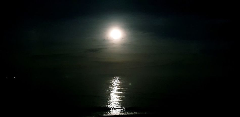 Astronomy Moon Water Moonlight Illuminated Reflection Sky