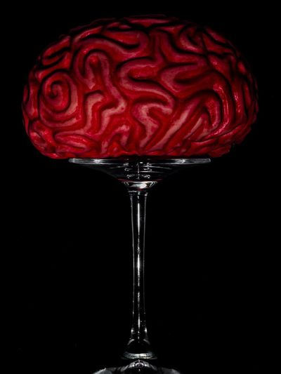 'the antropic bomb' Studio Shot Black Background Glass Brain Mind  Atomic Bomb Atomic Bomb Dome Anthropic Minimalism Minimal Still Life