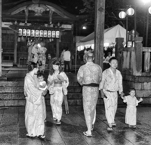 Kinosaki Shrine Shinto YUKATA Full Length People Blackandwhite Japan