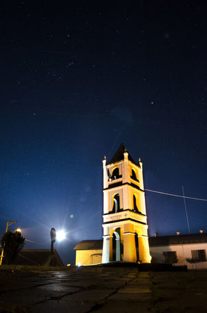 Church bell at night Architecture Astronomy Galaxy Night No People Outdoors Religion Scenics Sky Star - Space