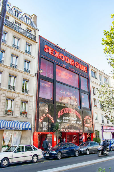 Paris, France, circa april 2016: 2016: Strolling and sightseeing in Paris. Boulevard de Clichy City Cityscape Day Façade Multi Colored No People Outdoors Store Street Travel Destinations