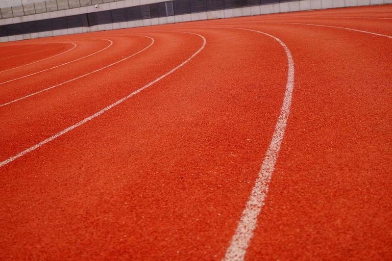 Running track at stadium