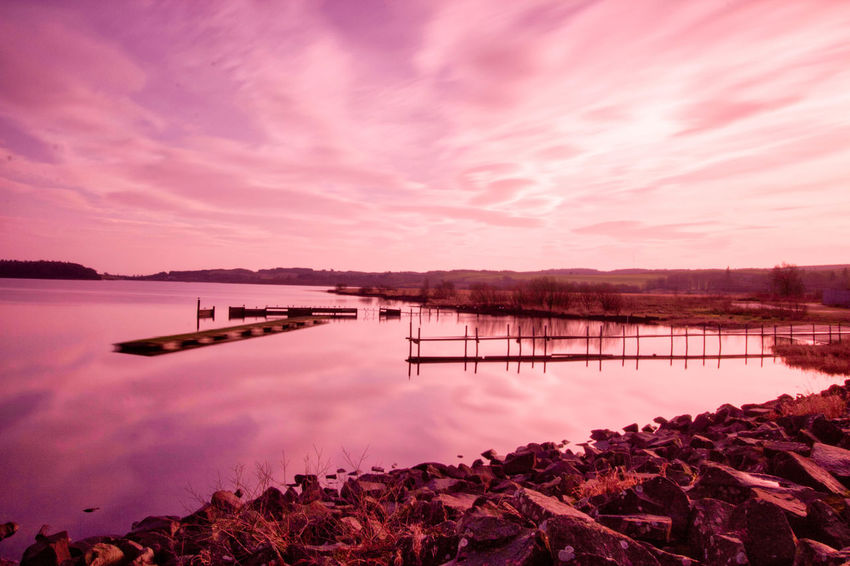 Water Sunset Lake Mountain Tree Red Reflection Sky Horizon Over Water Landscape Fishing Industry Reflection Lake Dramatic Sky Fishing Romantic Sky Sky Only