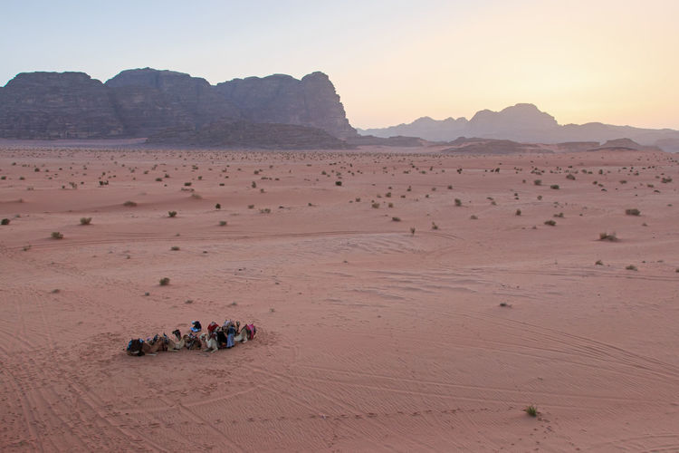 Rocky mountains in desert