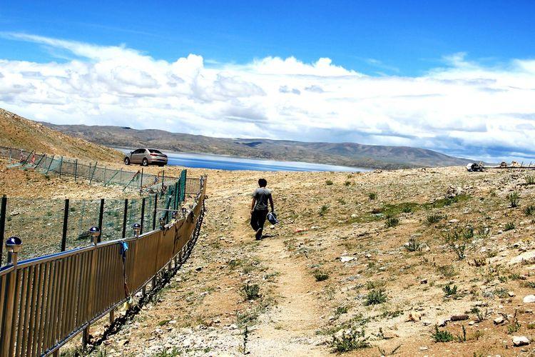 Water Full Length Mountain Men Arid Climate Sand Dune Sand Desert Sky Landscape
