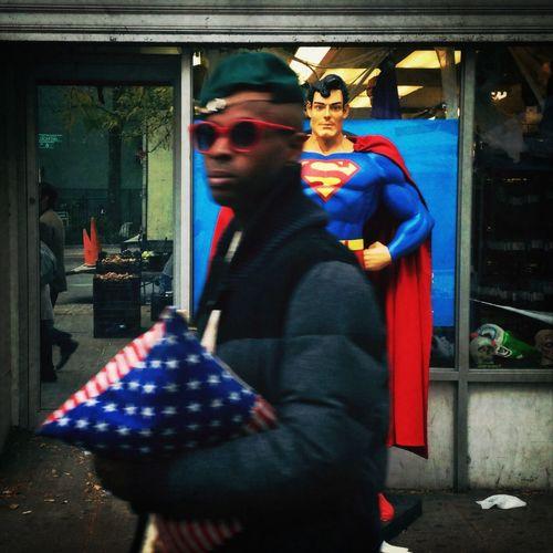 Streetphotography Superman Flag Americana