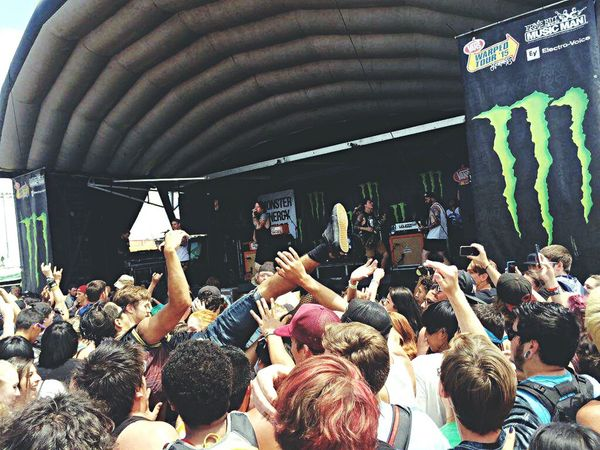 Vans Warped Tour Fun Music Beartooth Crowd Surfing Band Summer Loud Arizona Music Brings Us Together