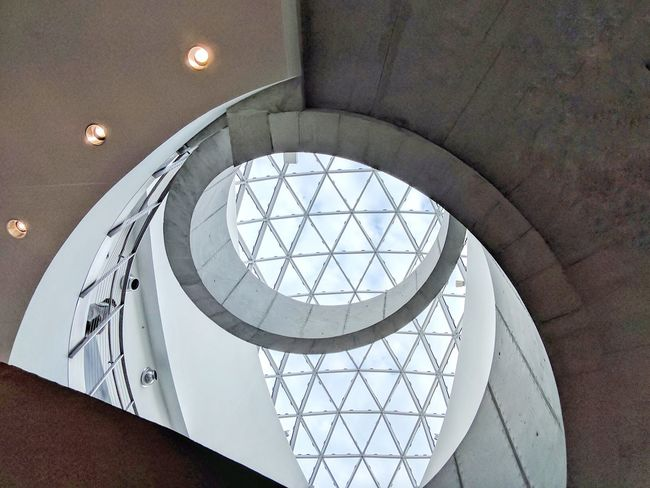 Built Structure Low Angle View Architecture No People Indoors  Day Sky Architecture Spiral Staircase Spiralstair