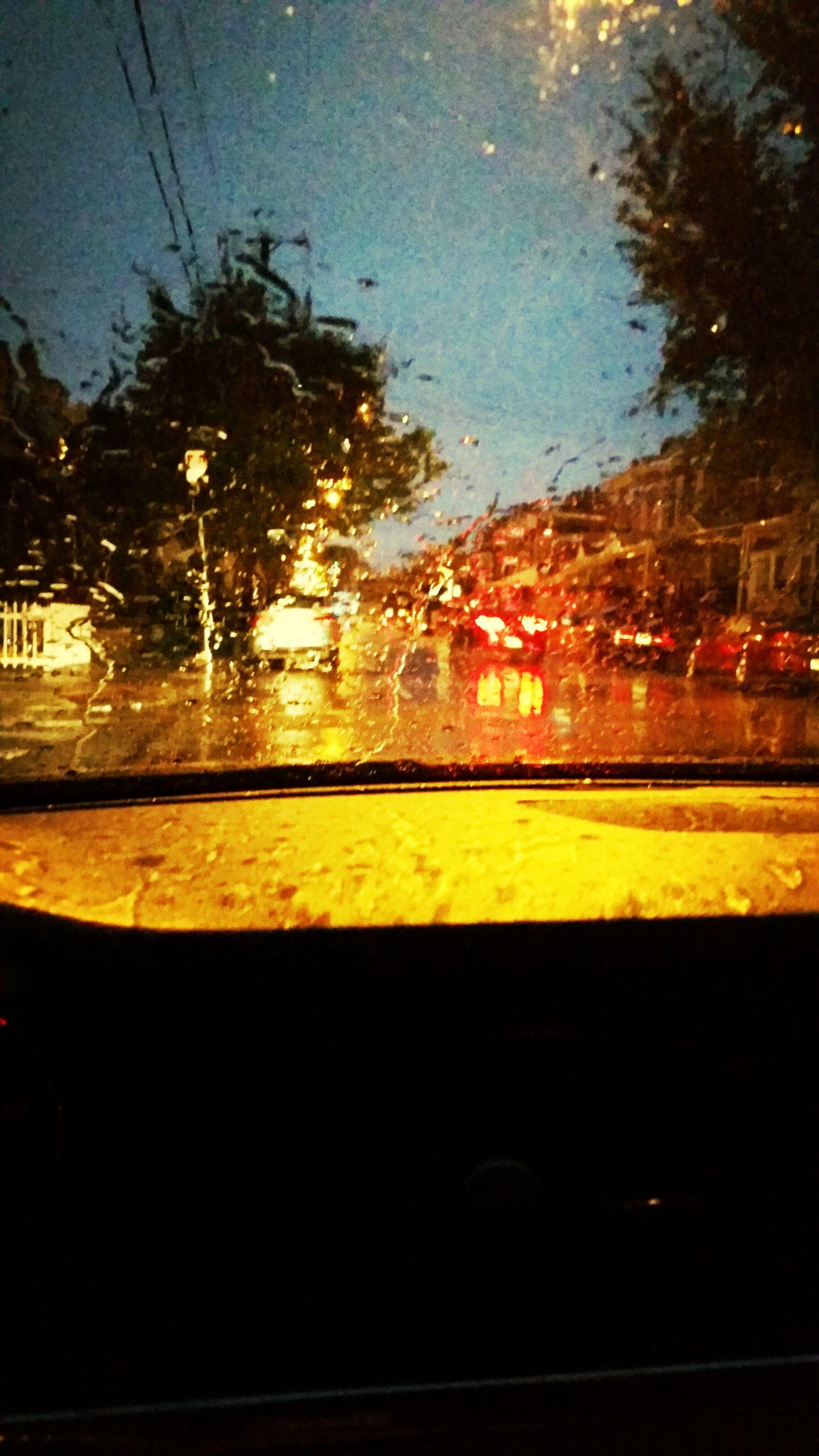 wet, rain, drop, window, water, transparent, glass - material, season, raindrop, car, tree, weather, indoors, glass, sky, transportation, vehicle interior, monsoon, street, night