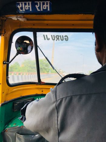 Easy transport in Delhi Real People Faces Of India Mode Of Transportation Transportation Public Transportation Vehicle Interior Land Vehicle Windshield Real People Travel Journey
