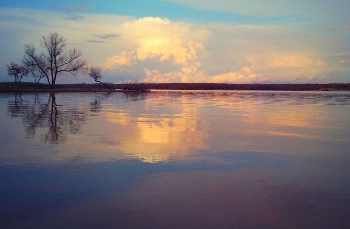 Beauty In Nature Cloud - Sky Clouds And Sky Day Idyllic Lake Nature No People Outdoors Reflection Scenics Silhouette Sky Sunset Tranquil Scene Tranquility Tree Water Waterfront