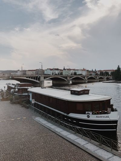 Prague Czech Republic Water Sky Cloud - Sky Transportation Nature Mode Of Transportation Nautical Vessel Travel Architecture Sea Beach Sailboat Outdoors Building Exterior Harbor Built Structure Day Land Moored No People