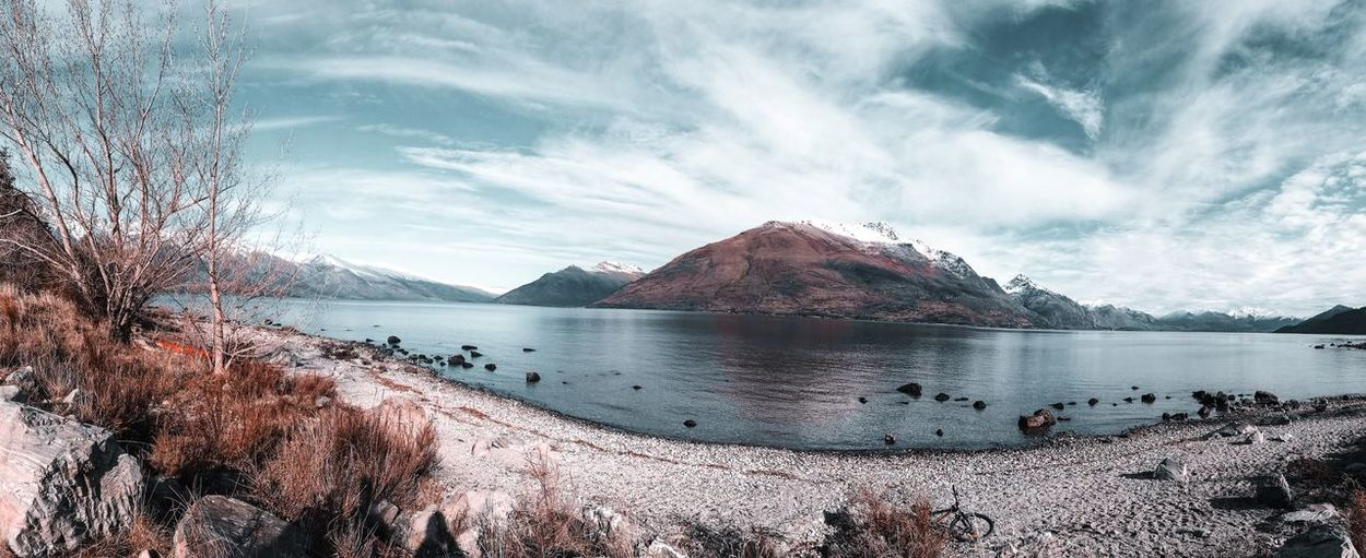Winter Lanscape Photography Lake View Newzealandphotography Tranquility Reflection Day Mountain Sea Outdoors No People Beach Non-urban Scene Land