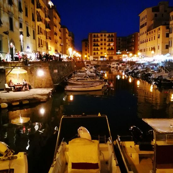 Reflection Boats Effetto Effettovenezia Livorno Nightphotography Canalstreet Canalboat