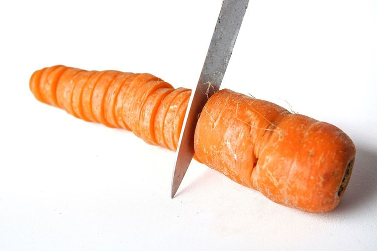 White Background Food And Drink Food Vegetable Carrot Carrots Cutting
