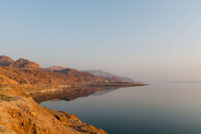 Landscape_photography Dead Sea  Colours Travel Photography Sky And Sea Hills Water Reflections Jordan Saltwater The Lowest Place On Earth Landscapes With WhiteWall
