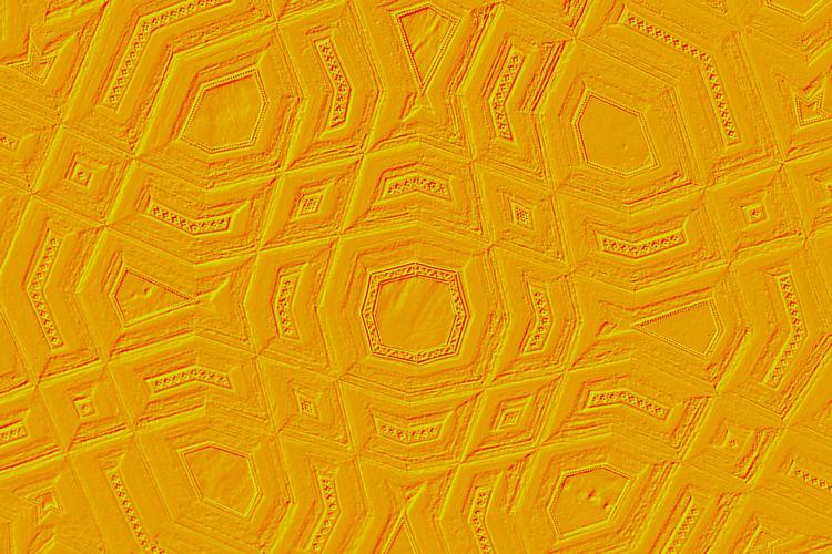 Full frame shot of orange ceiling