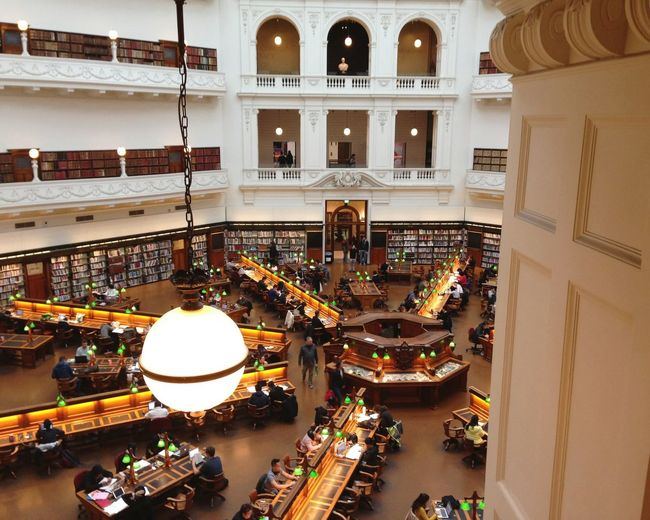 Library Statelibrary Victoria Light 図書館 メルボルン Australia City High Angle View Architecture