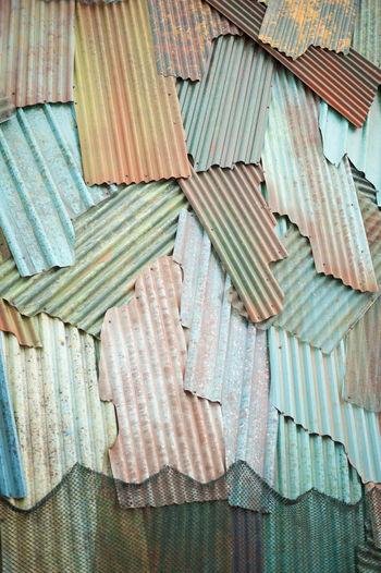 Full frame shot of old roof