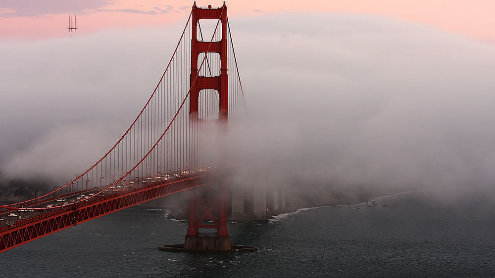 Golden Gate Bridge San Francisco, California Golden Gate Bridge Is Red Foggy Melancholic Landscapes Amazing Architecture Seeing The Sights Photography In Motion Landscapes With WhiteWall Been There.
