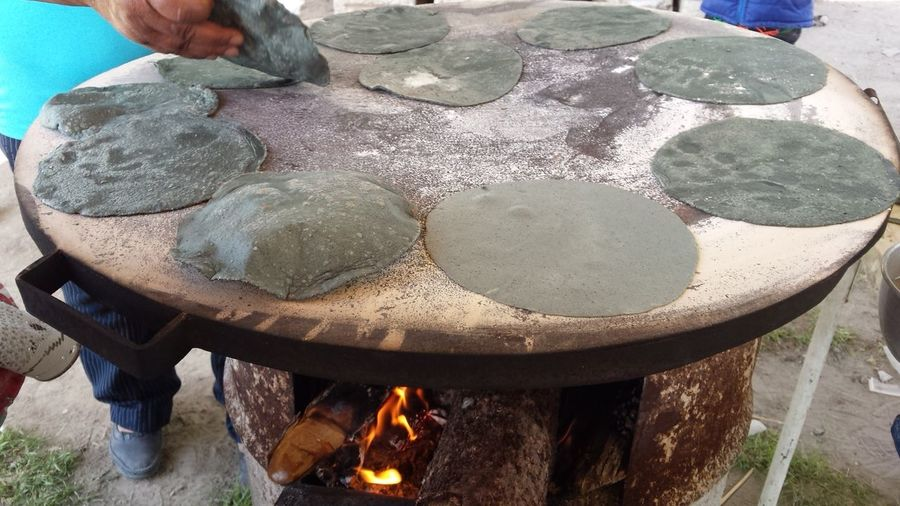 Food Low Section Masa Azul Mexican Food Outdoors Person Rural Mexican Rural Scene Shoe Tortillas