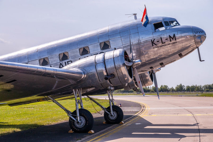 DC 3 Air Vehicle Airplane Transportation Mode Of Transport Aerospace Industry Airport Runway Day