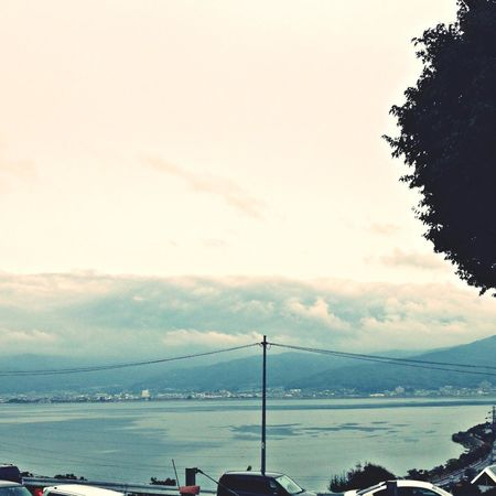 諏訪湖で一息
