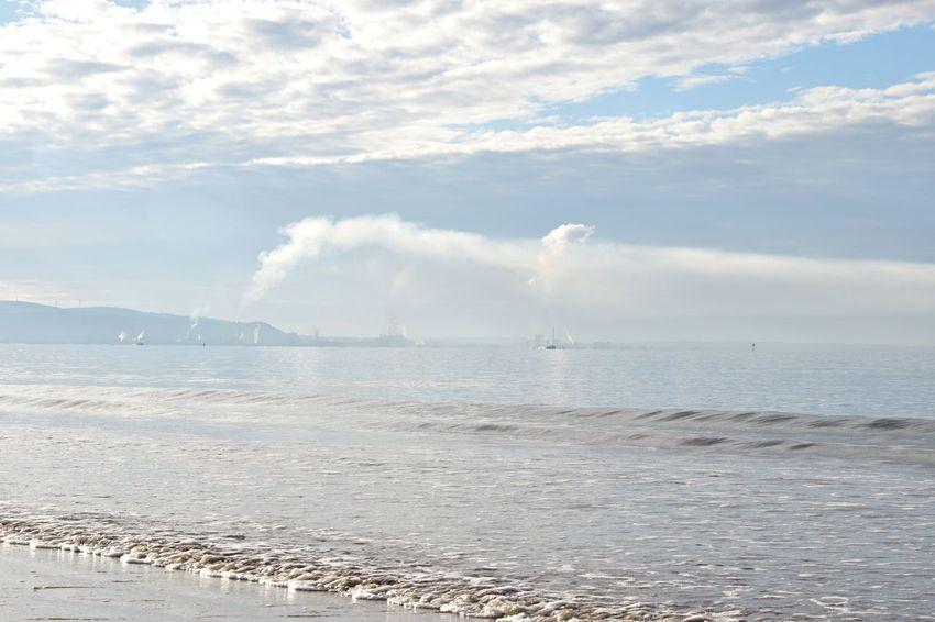 Taking Photos Smoke Plumes Swansea Bay Nikon D5500