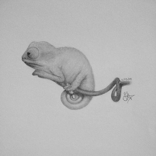 I drew a little chameleon! :3 I named him Pascal x3 Tangledreference • • Draw Drawing Artist art sketch pencil chameleon