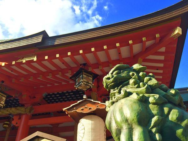 生田神社の狛犬 Shrine Japanese Shinto Shrine Gurdian Dogs IPhoneography