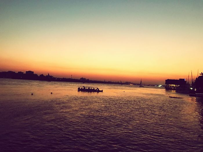 The Nile River Egypt EyeEmNewHere Sunset Outdoors Tranquil Scene No People Scenics Clear Sky Tranquility